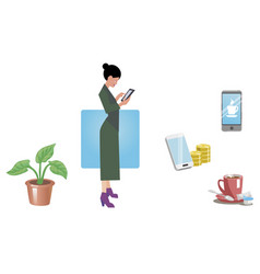 business woman office worker employee manager vector image vector image