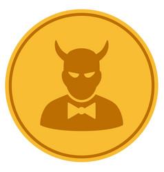 Devil gold coin vector