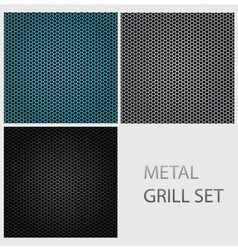 metal texture set vector image