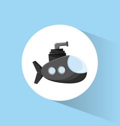 submarine periscope underwater icon vector image
