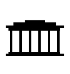 court building isolated icon design vector image vector image