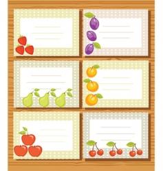 fruit frames vector image vector image