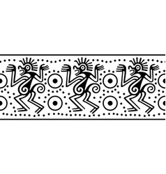 seamless border in indian style vector image