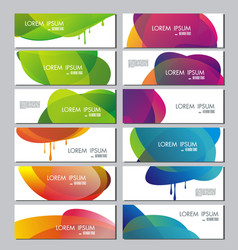 set of banners with abstract color circle shapes vector image vector image