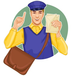 Young postman vector image vector image