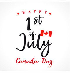 1 st july canada day lettering vector image