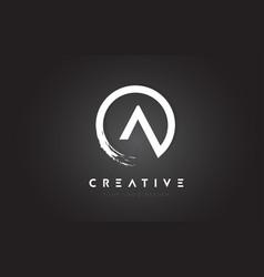 A circular letter logo with circle brush design vector