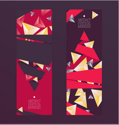 abstract design vertical set of banners cards vector image