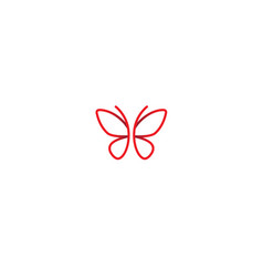 Abstract pinky butterfly logo symbol design vector