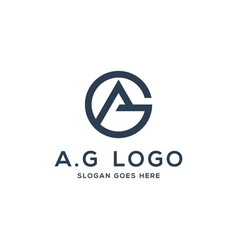 ag logo concept initial ag vector image