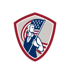 American Patriot Holding USA Flag Shield vector