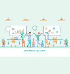banner corporate training for employee development vector image