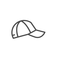 baseball cap line icon vector image