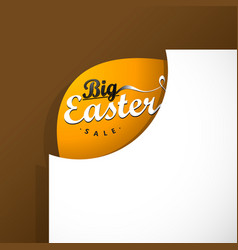 big easter sale card template vector image