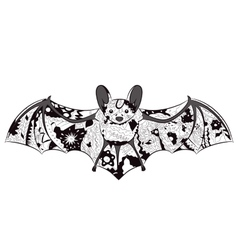 black-and-white bat vector image