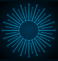 Blue shiny neon abstract star background vector