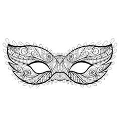 Bohemian festive mask silhouette vector