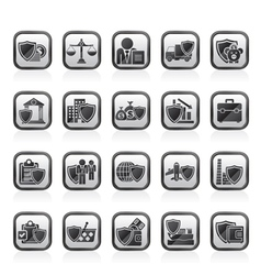 Business and industrial insurance icons vector image