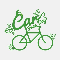 Car Free Day Concept vector