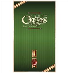 Christmas green banner vector image vector image
