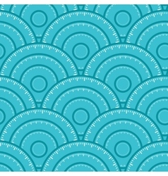 Circle With Ruler Shape Seamless Pattern vector