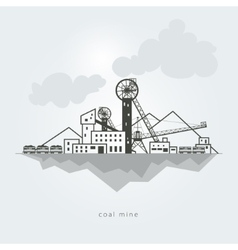 Coal mine vector