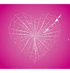 Cobweb heart vector
