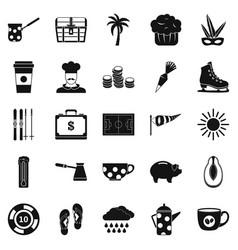 coffeemania icons set simple style vector image