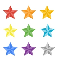 Collection of multicolored stas vector
