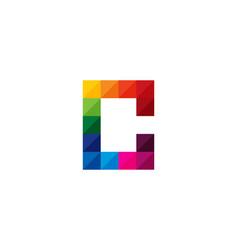 color letter c logo icon design vector image