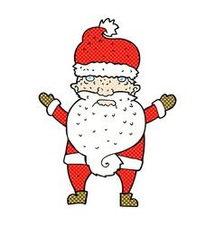 Comic cartoon grumpy santa vector