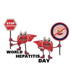 Concept for world hepatitis day vector
