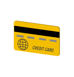 credit card symbol flat isometric icon or logo 3d vector image
