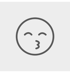 Curious smile thin line icon vector
