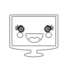 cute tv screen vector image