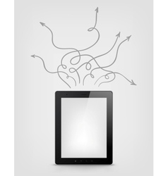 Digital Tablet Concept vector image vector image