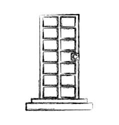 door with stairs vector image