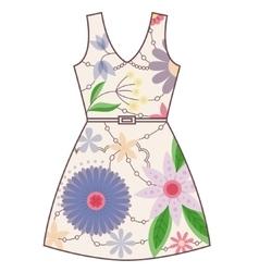 Dress vintage vector image