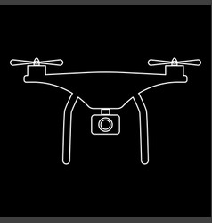 drone the white path icon vector image