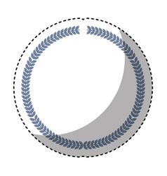 Elegant frame isolated icon vector