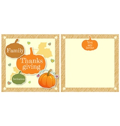 Event Thanksgiving Cute family thanksgiving day vector