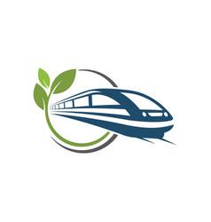 fast train icon design vector image