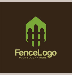 fence logo design stock template vector image