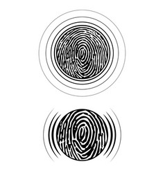 fingerprint silhouettes set vector image