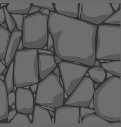 Flat seamless stone texture gray stones vector