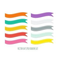 Flat style ribbons set vector