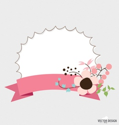 Floral bouquets and ribbon vector image