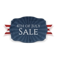 Fourth of July Sale Holiday Banner vector image