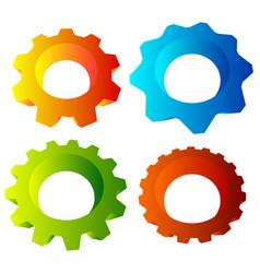 Gearwheel cogwheel gear shapes mechanics industry vector