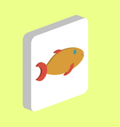 Gold fish computer symbol vector